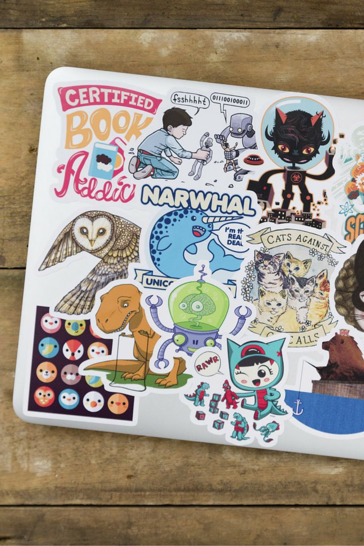 In love with these fun stickers!! Use them to decorate laptops, binders, water bottles, whatever! They're easy to peel off and re-stick again, they last forever, and won't fade in the sun.