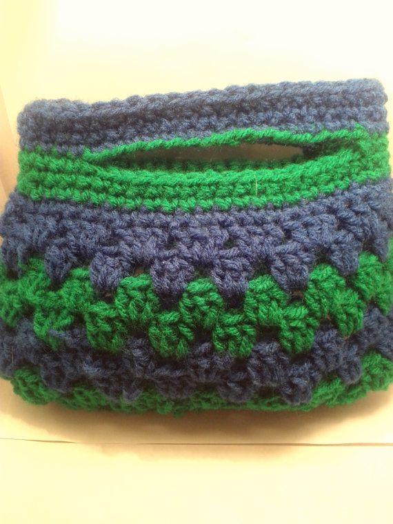 Handmade Blue and Green Crochet Purse for IH Awareness