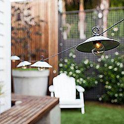 8 Metal Lantern Outdoor Battery LED Fairy Lights