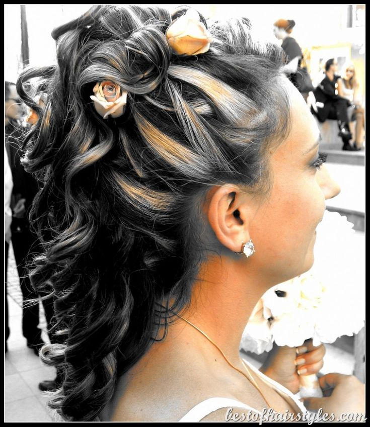 Half Up Down Wedding Hairstyle Hairstyles Hq 1