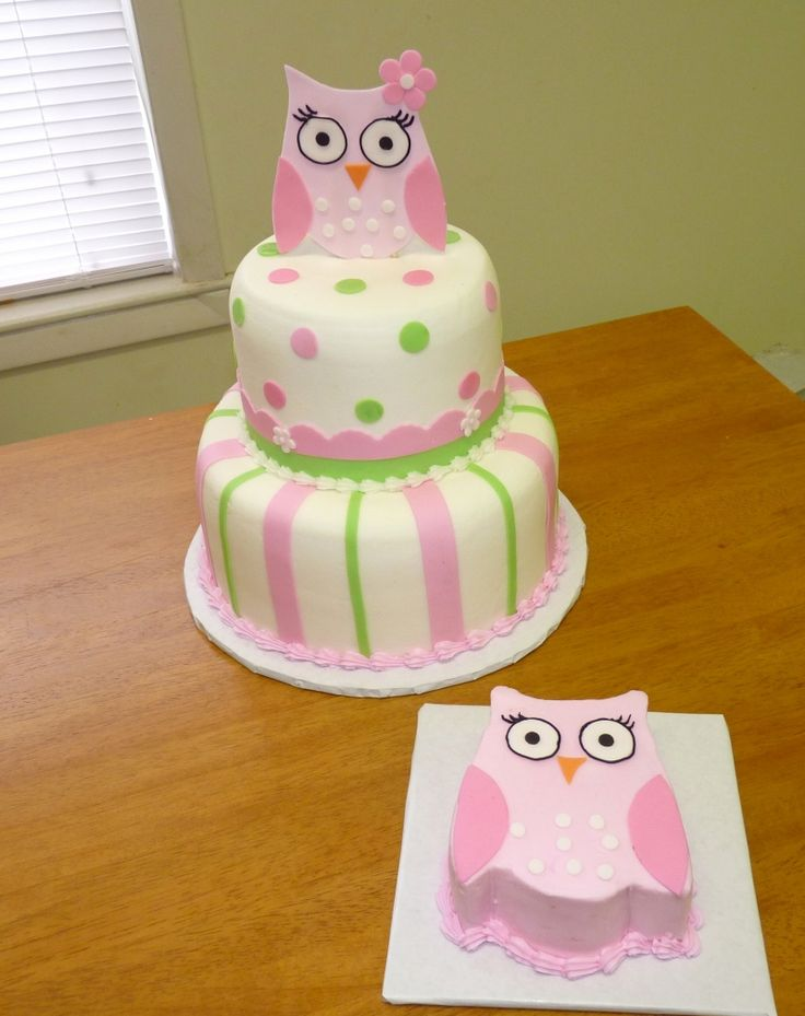 Cute owl cake what about a simple owl like this on top for Cute simple cakes