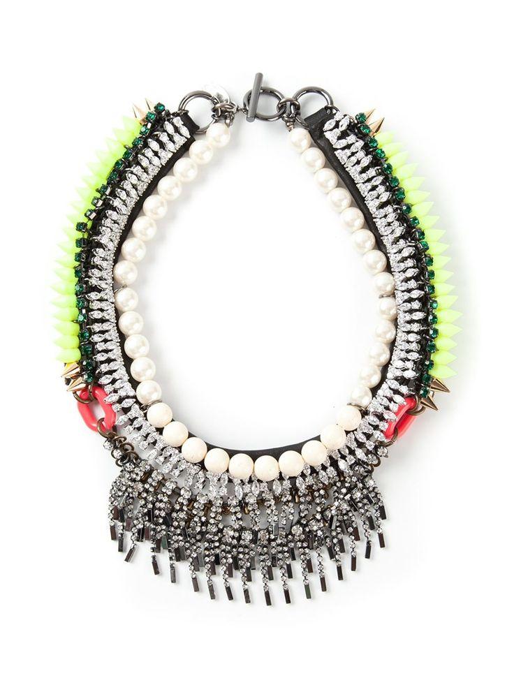 Venna массивное ожерелье с шипами