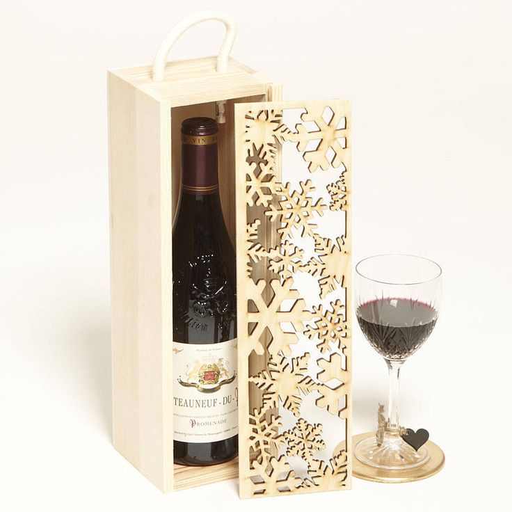 lasercut snowflakes bottle box, sophia victoria joy, £24.95, noths