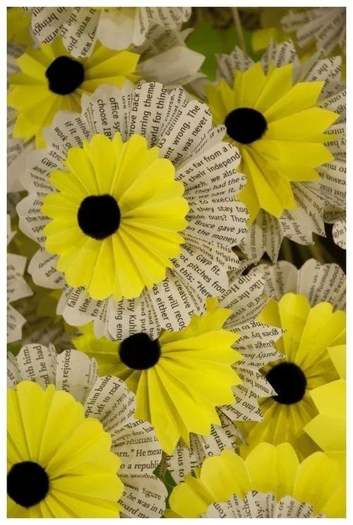 Fleurs en papier (Récupération)