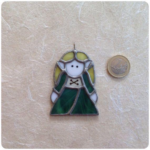Ciondolo Elfa realizzato a mano  in vetro tecnica di CloverSbox