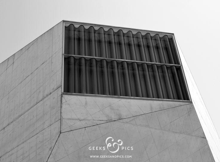 Casa da música, Porto, Portugal. Architecture, black and white. http://www.geeksandpics.com/