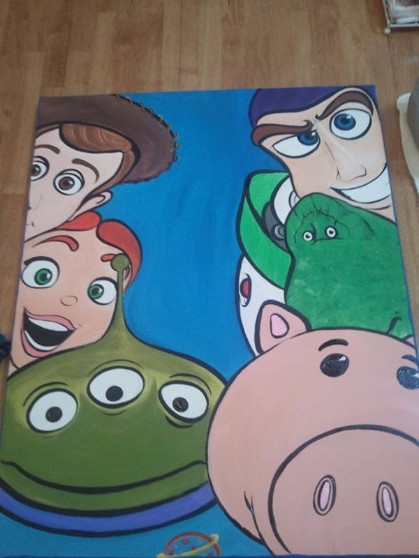 40 Pictures of Cool Disney Painting Ideas 21