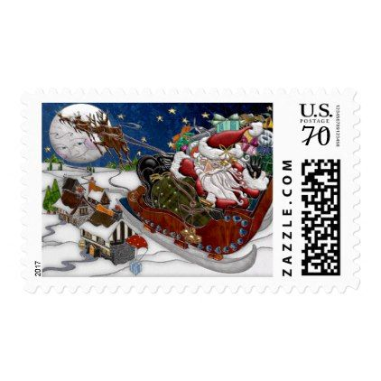 #Santa Claus Is Coming To Town Postage Stamp - #giftideas for #kids #babies #children #gifts #giftidea