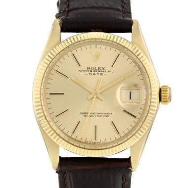 Montre Rolex Oyster Perpetual Date en or jaune 14k Ref :  1503 Vers  1973