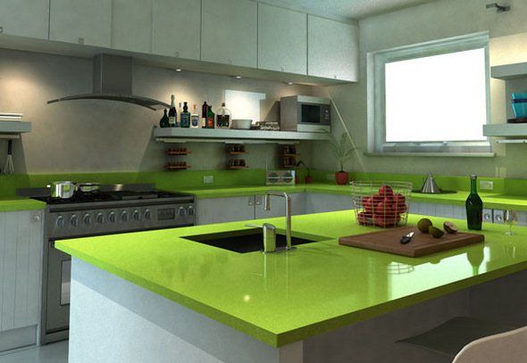 Green Countertop With White Cabinets Gran S Kitch