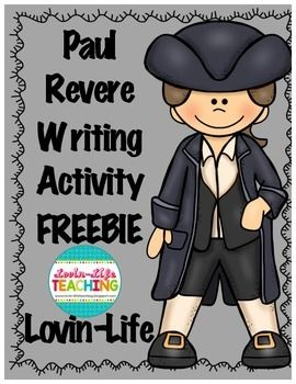 Paul Revere Informational Writing Printable- FREEBIE OF TH