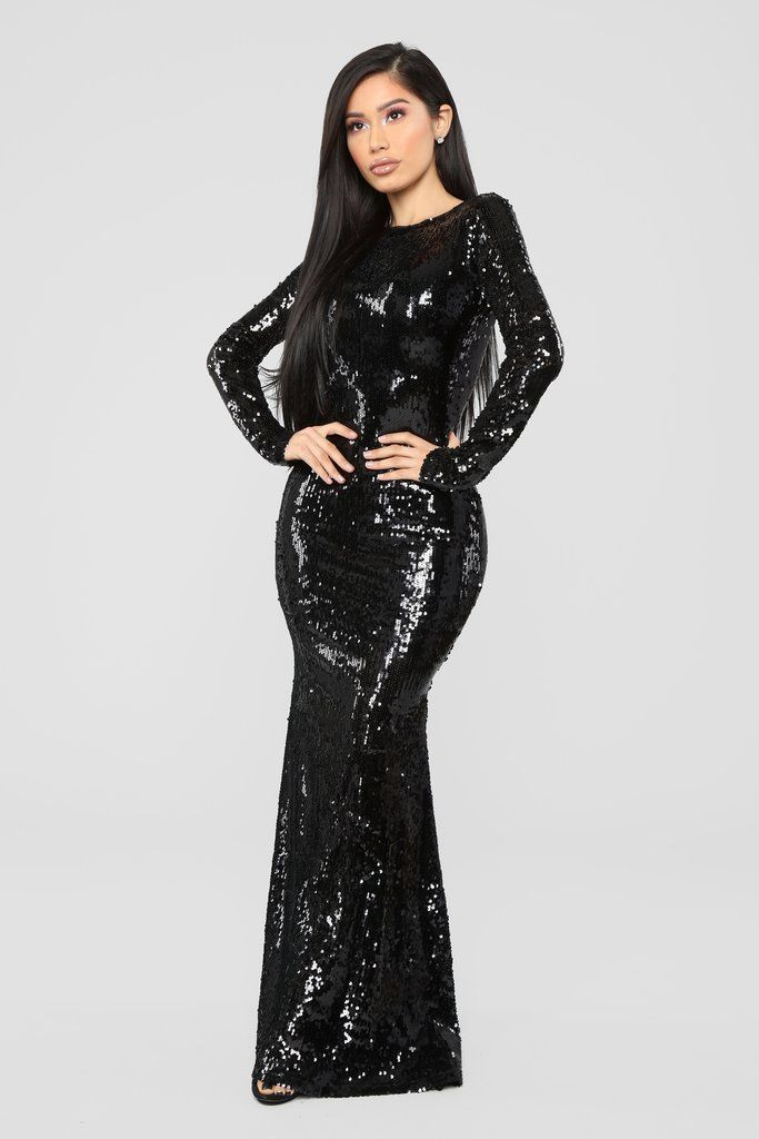 67c6dfed0285 Date With The Night Sequin Dress - Black in 2019 | Fashion Nova ...