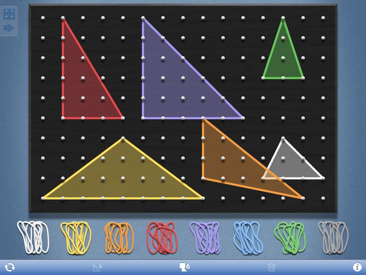 Geometry Lesson utilizes FREE Geoboard app to classify triangles