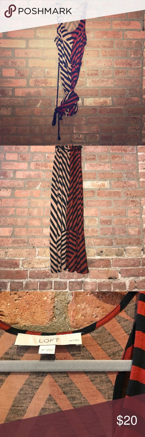 LOFT Maxi Petite maxi. Ties at waist. Perfect for a date night or weekend brunch. LOFT Dresses Maxi