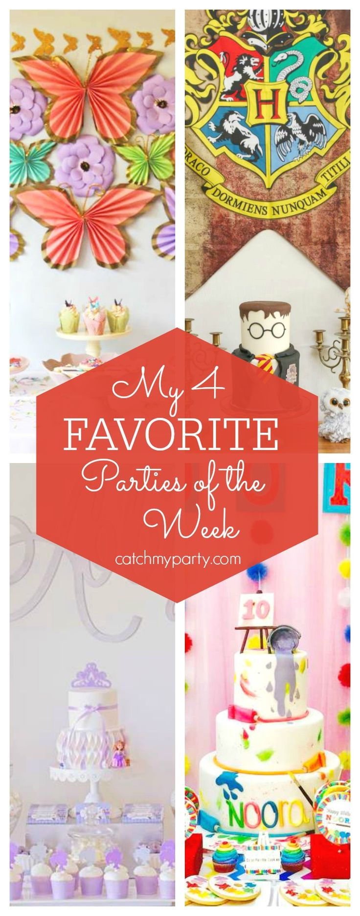 My favorite parties this week include a Spring Bloom baby shower, a harry Potter birthday party, a Sofia the First birthday party and an Art party | CatchMyParty.com