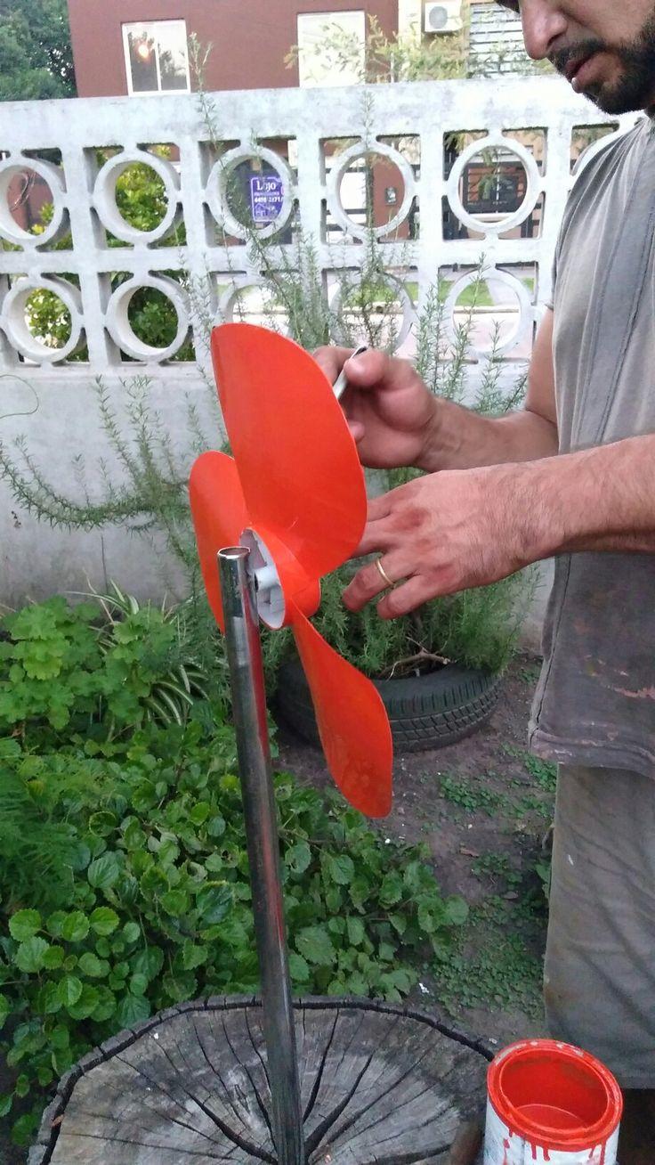 Flor de elice de ventilador
