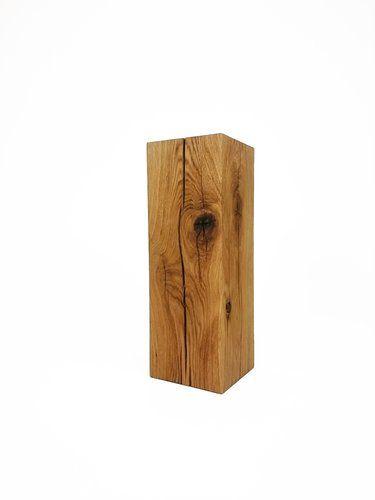 Eichenstamm Eiche Massivholz 17x17x50cm handarbeit aus Deutschland Beistelltisch #heimgruen
