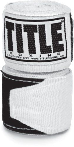 Amazon.com : TITLE Boxing Semi Elastic Hand Wraps, WH : Boxing And Martial Arts Hand Wraps : Sports & Outdoors