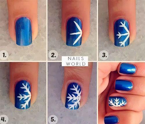 16 Tutorials to Paint Snow Flake Nails - Pretty Designs