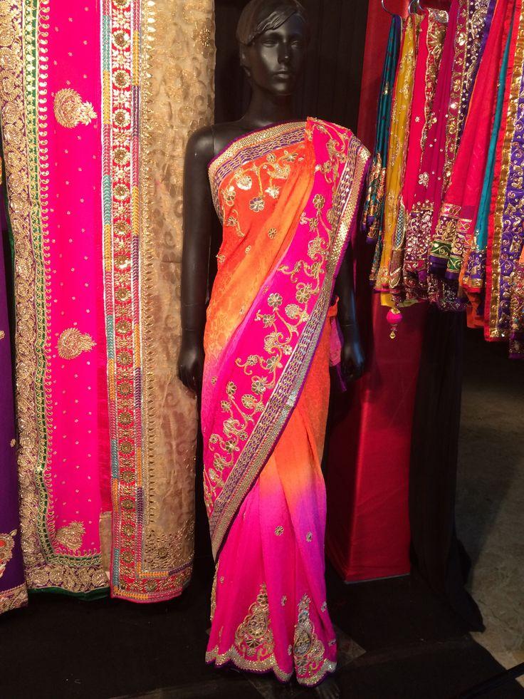 Designer Saree in jacquard crepe.