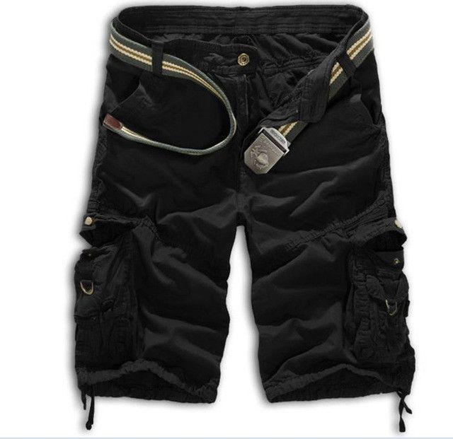 Hot Summer Style Shorts Men Casual Loose Knee Length Cargo Shorts Plus Size Multi-pocket Military Shorts Men 8 Colors