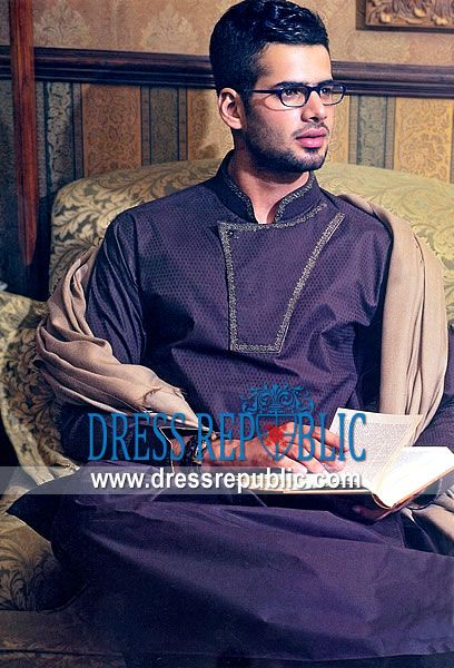 Style DRM1102, Product code: DRM1102, by www.dressrepublic.com - Keywords: Pakistani Mens Shalwar Kameez Shops Chicago, Columbus, Detroit, Los Angeles, USA