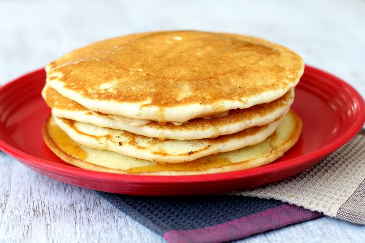 Best pancake recipe I have ever tried - the cinnamon takes it to another level. I made them with gf flour and baking powder and they turned out great.