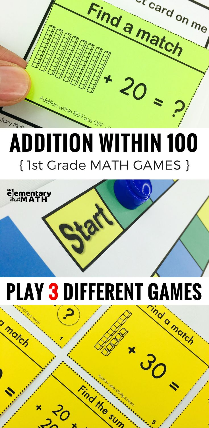 Addition within 100 games for your 1st grade students are a fun alternative to worksheets. Check out these 3 math games that are great for your 1st grade math centers.