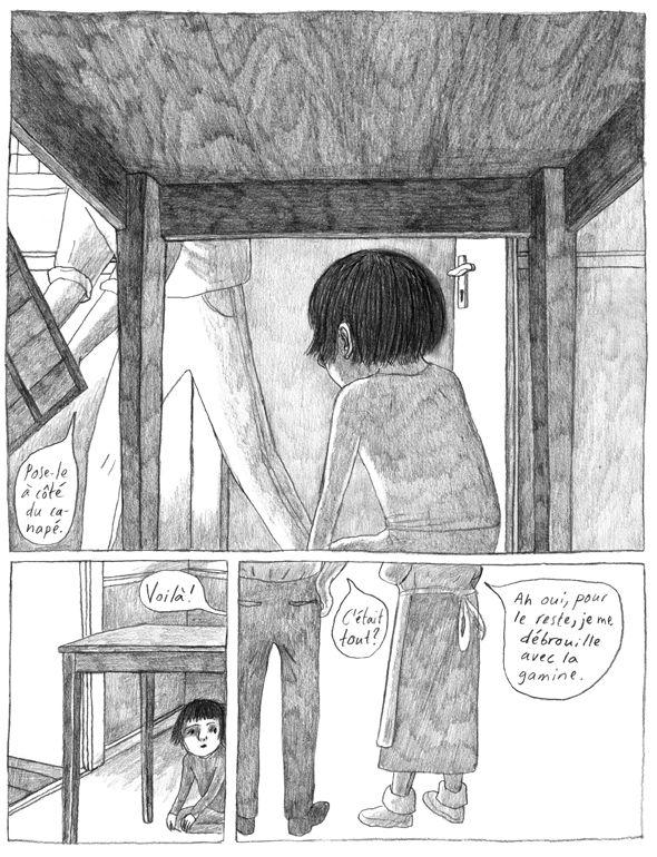 """Tavola tratta da """"Frances #3"""" di Joanna Hellgren. Pubblicato da Ed. Cambourakis (Francia, 2012)"""
