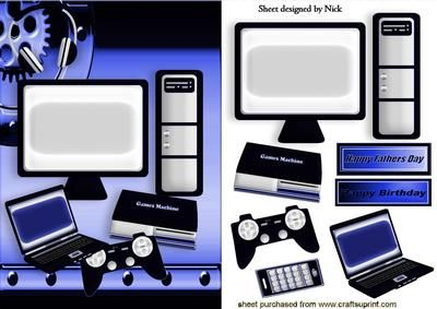 BLACK AND BLUE HOME GADGETS LAPTOP COMP GAMES MACHINE on Craftsuprint - Add To Basket!