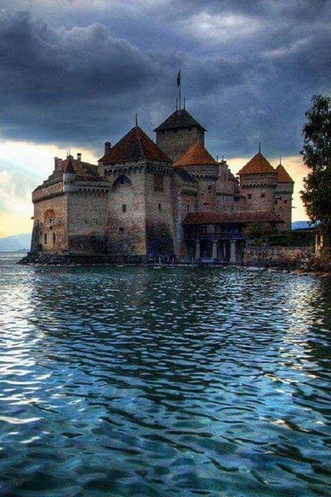Chillon Castle.  Lake Geneva.  Switzerland