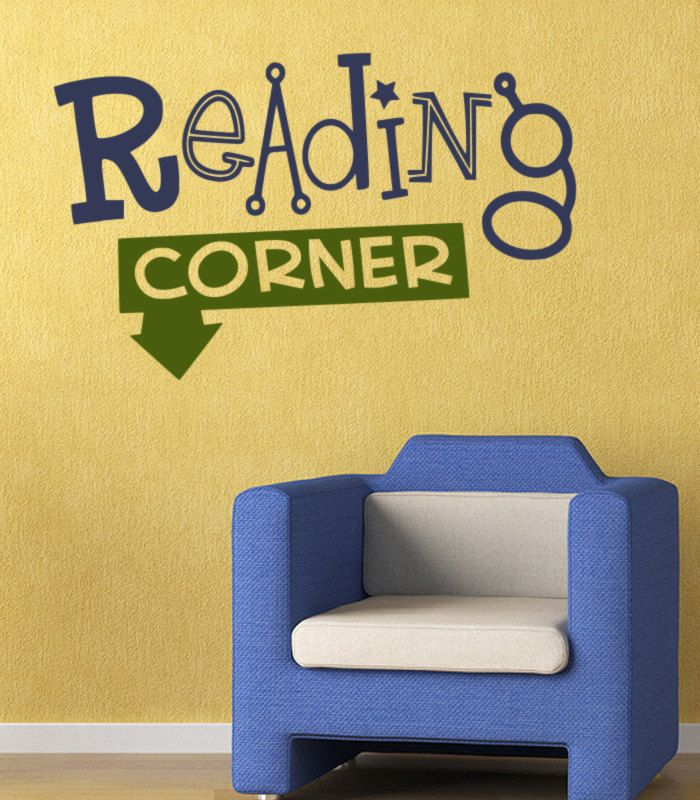 Classroom Wall Decal Reading Corner  Llibrary by KeyReflection, $17.00
