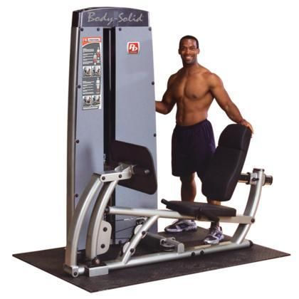 DCLPSF ProCluib Line Pro Dual Leg/Calf Press Machine with Non-Skid Press Plate and Adjustable Back Pad