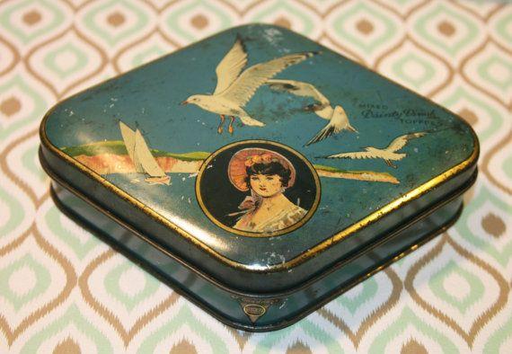 George Horner vintage Dainty Dinah diamond shaped tin by Tinternet