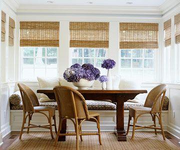 Best 25 sunroom blinds ideas on pinterest woven blinds for Sunroom breakfast nook