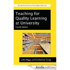 John Bigg and Catherine Tang's Teaching for Quality Learning at University is a classic in the field and particularly popular outside of North America. It is very  helpful because it addresses how to align curriculum at the course and program level and also offers a useful framework for selecting teaching and learning activities.