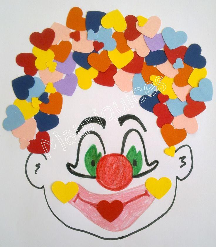 Numa folha de papel branca desenhei a cara de um palhaço. Com lápis de cor as crianças coloriram a boca, os olhos e o nariz. No final ...