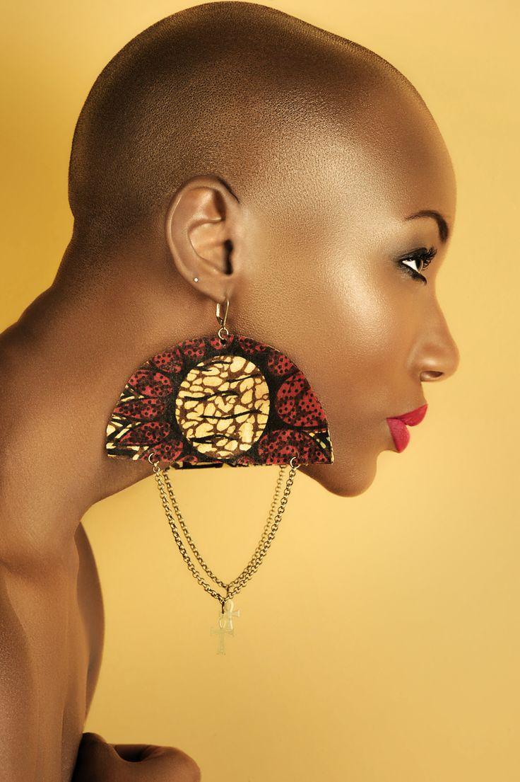 AfroBeat Earrings (www.NzingahDesigns.com or www.Nzingah.info) Photography Mike Mogul (www.MikeMogul.com) Model: Tico Armand