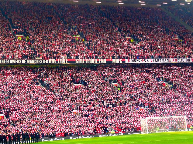 Stretford end Old Trafford. Munich disaster