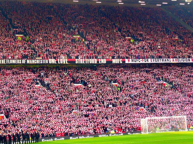 Stretford end Old Trafford