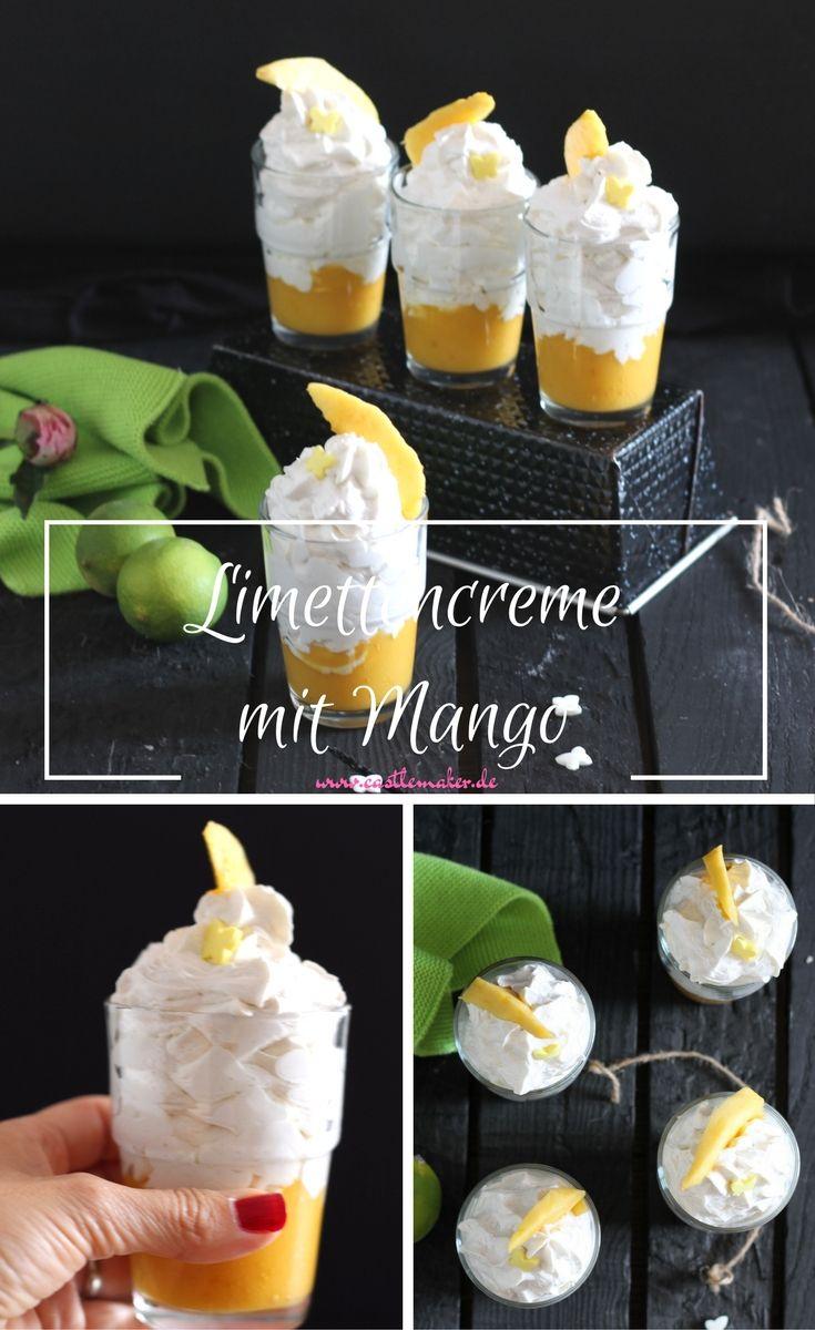 Köstliche Limettencreme trifft auf fruchtiges Mangopüree. Das ist ein leckeres Dessert und kann auch als Tortenfüllung verwendet werden. Zum Rezept bitte auf meinen Blog klicken.  Limetten, Mango, Fruchtmousse, Nachtisch, Rezept