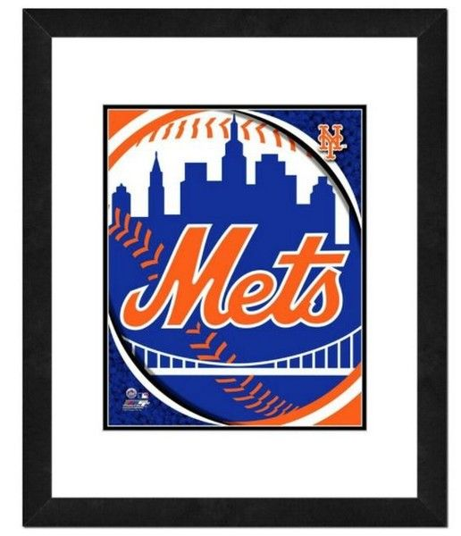 Photo File New York Mets Team Logo Framed Print Picture Artwork 18x22 MLB NY