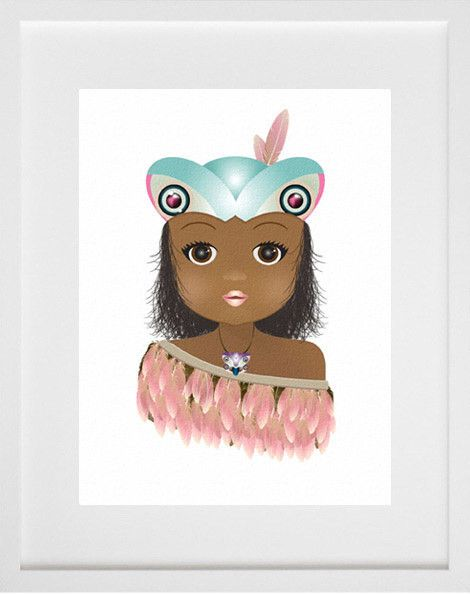 Protected and watched over by her Tikina head crest, 'Tikina Girl' is a limited edition Giclee fine art print by Ema Frost. This unframed fine art print is limi