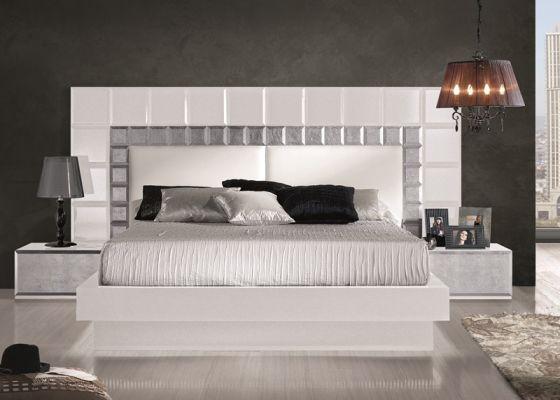 M s de 1000 ideas sobre cabeceros de cama tapizados en for Habitacion matrimonio blanco y plata