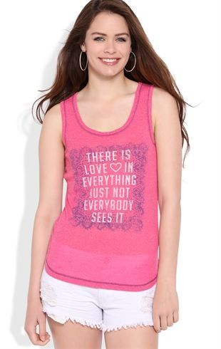 Deb Shops Racerback Tank Top with Love is Everything Screen $14.25: Screens 14 25, Deb Clothing, Style, Tank Tops, Quirky Clothing, Love Is, Tanks Tops, Deb Shops, Racerback Tanks