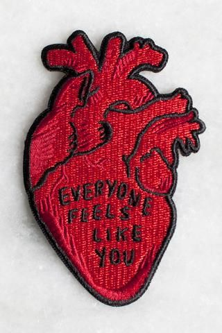 """We worked with Allison Weiss to design a series of 3 patches based on the lyrics from her new album New Love. This patch is inspired by the song """"Out Of This Alive"""". Your purchase of any patches from"""