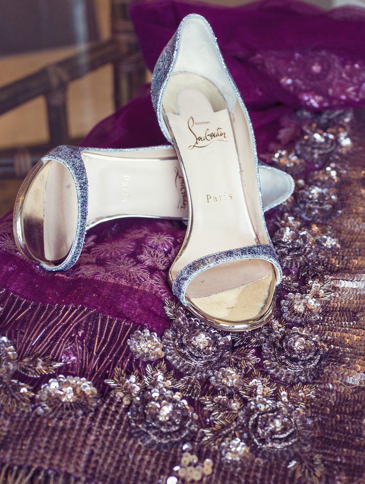 Sparkly Silver Open-Toe Louboutin Heels | Photo: Studio AvantGarda.