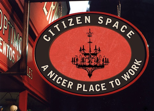 Citizen Space Sign (Coworking Space in San Francisco)