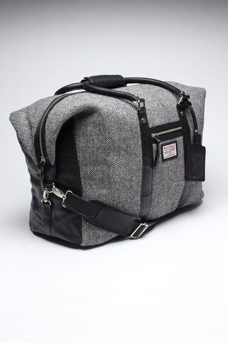 Carry on- Jack Threads    Tweed and leather