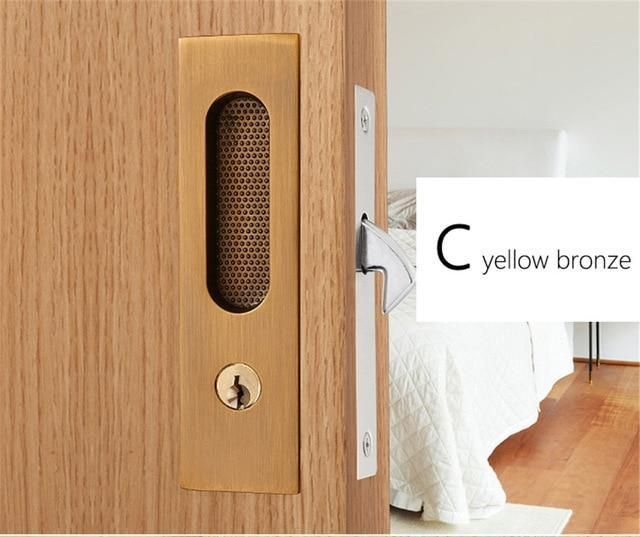 Sliding Door Lock Pocket With Key Bathroom Door Handles Sliding Doors Invisible Doors